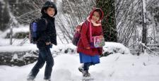 Van'da kar yağışı nedeniyle okullar tatil edildi