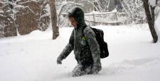 Çanakkale'de kar nedeniyle okullar tatil edildi