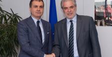 AB Bakanı Çelik, Brüksel'de
