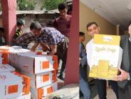Terör mağdurlarına bayram desteği ve yardım paketi verildi