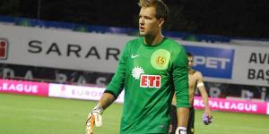Eskişehirspor ile Ümraniyespor'un oynadığı maçta kaleci Ruud Boffin kendi sahasından gol attı