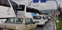 Afyonkarahisar'da tatil dönüşü yoğunluk