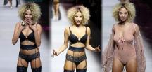 Paris Moda Haftasında defileye çıkan Rose Bertram izleyenleri kendine hayran bıraktı