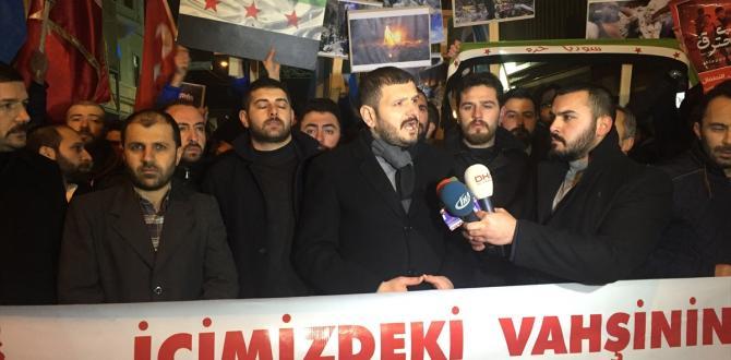 Alperen Ocaklarından Halep protestosu