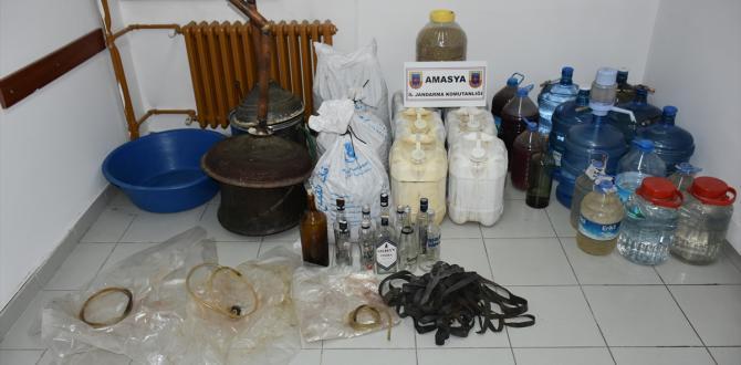 Amasya'da kaçak içki operasyonu