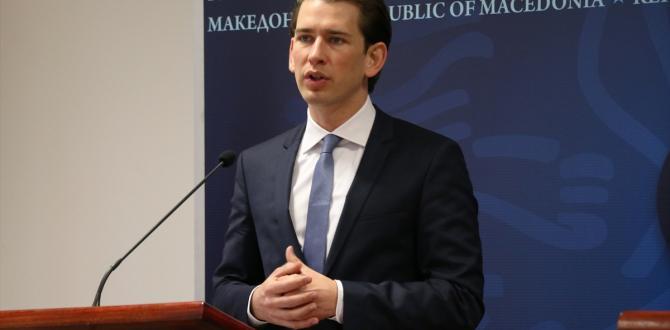 Avusturya Dışişleri Bakanı Kurz, Makedonya'da