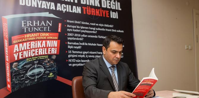 Dink cinayeti davası sanıklarından Tuncel, kitabını tanıttı