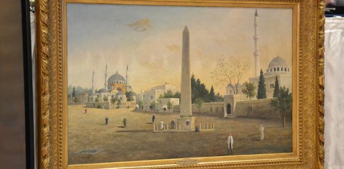 "Guillaumet'in ""Sultan Ahmet Meydanı"" tablosuna yüksek fiyat"