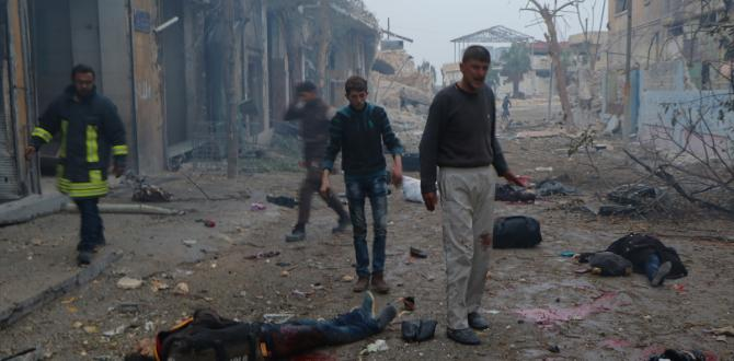 Halep'e sivillere yönelik saldırılar