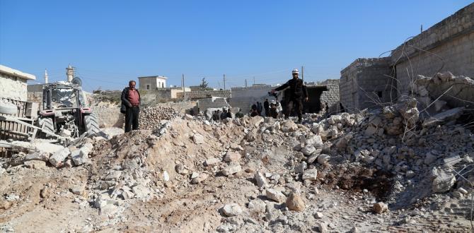 Halep'te yerleşim yerine saldırı