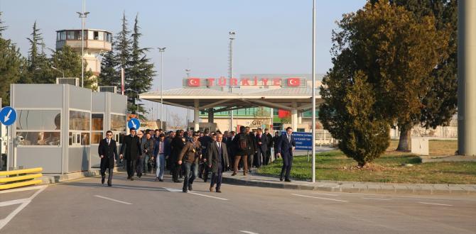 """İçişleri Bakanı Soylu, sınırdaki """"Ortak Temas"""" merkezinin açılışına katıldı"""