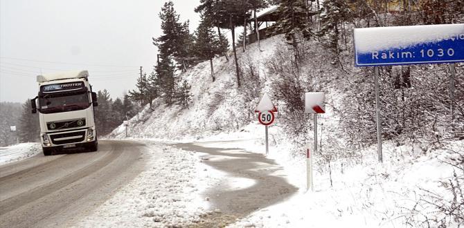 Karabük'te kar yağışı