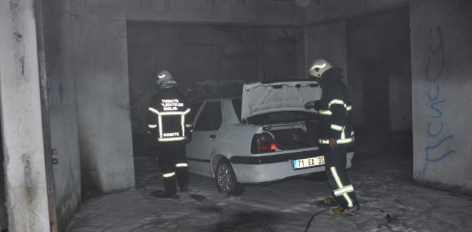 Kırıkkale'de araç yangını