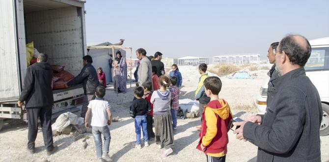 Konya'daki Suriyeli sığınmacılara soba ve gıda yardımı