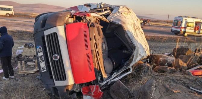 Nevşehir'de trafik kazası: 1 ölü, 1 yaralı