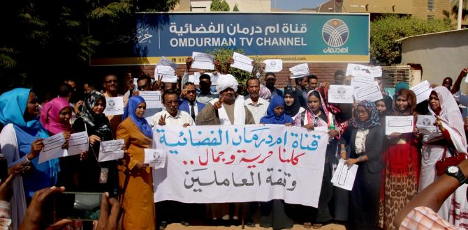 Sudan'da basın özgürlüğü protestosu