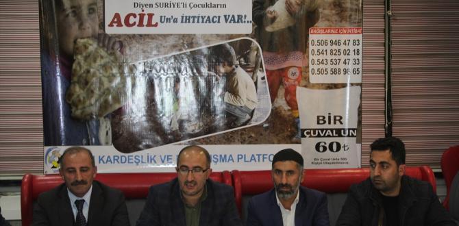 """""""Suriye'de Acil Una İhtiyaç Var"""" kampanyası"""