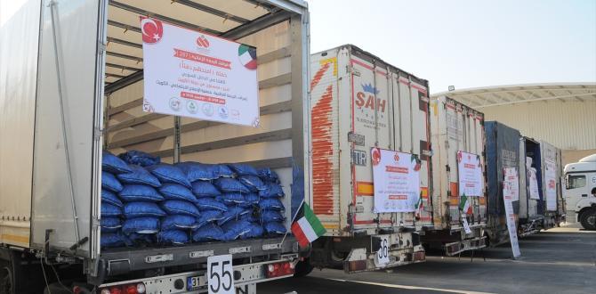 Suriye'ye 62 tırlık insani yardım