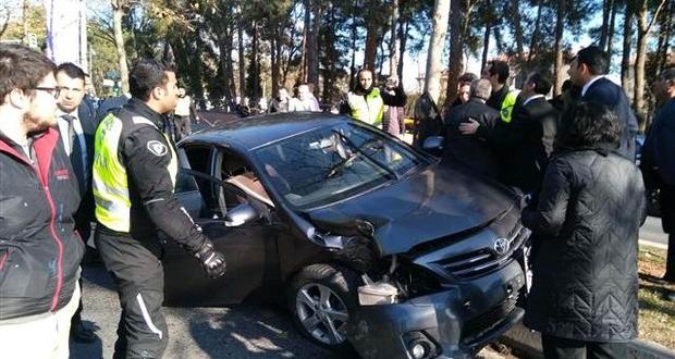 Cumhurbaşkanı Erdoğan'ın konvoyunda trafik kazası!