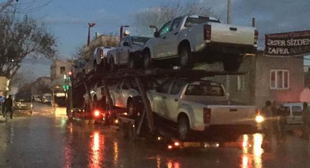 Türkiye ÖSO'ya arazi araçları gönderdi