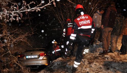Abant yolunda trafik kazası: 1 yaralı