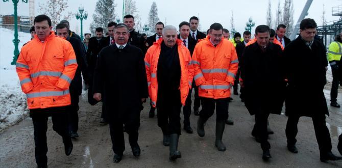 Başbakan Yıldırım, Ankapark'ta incelemelerde bulundu