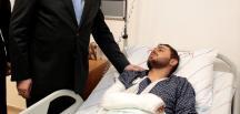 Yıldırım, El Bab'da yaralanan askerleri ziyaret etti