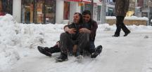 Çankırı'da kar yağışı