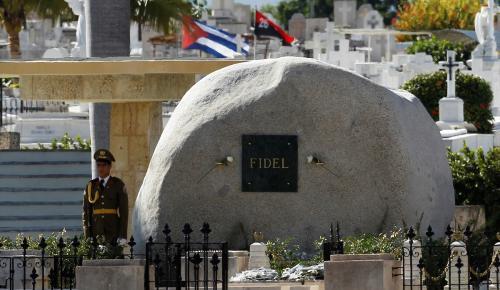 Castro'nun külleri defnedildi