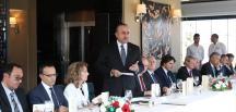 Çavuşoğlu, AB büyükelçileri öğle yemeğine katıldı