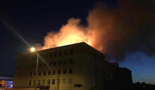 Edirne'de bir okulda yangın çıktı