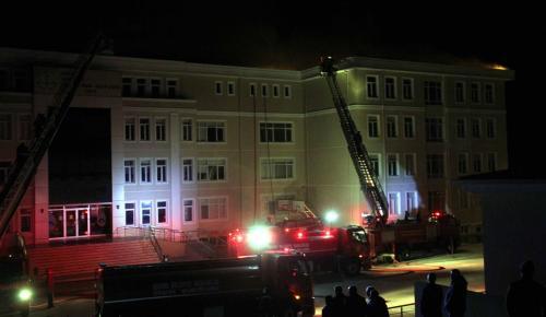 GÜNCELLEME – Edirne'de bir okulda yangın çıktı