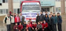 Gaziantep'ten Halep'e 3 tır insani yardım malzemesi