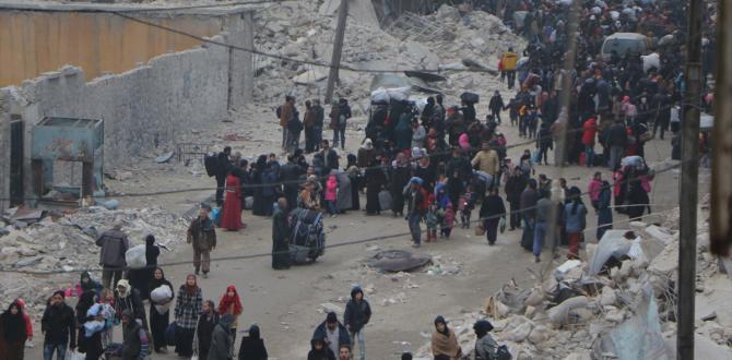 Halep'te halk güvenli semtlere göç ediyor