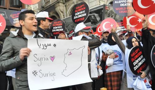 Halep'teki sivillere yönelik saldırılara tepkiler