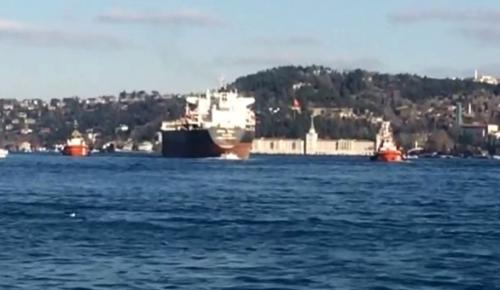 İstanbul Boğazı'nda petrol tankerinin dümeni kilitlendi!