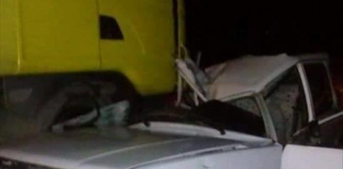 Kastamonu'da otomobille kamyon çarpıştı: 1 ölü