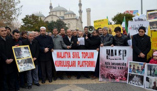 Malatyalılar, Halep için seferber oldu