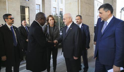 Meclis Başkanı Kahraman, Talon ile görüştü