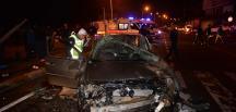 Ordu'da otomobil sinyalizasyon direğine çarptı: 4 yaralı