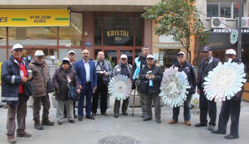 """Piyangoculardan """"hipermarket"""" protestosu"""