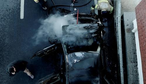 Seyir halindeki araçta yangın