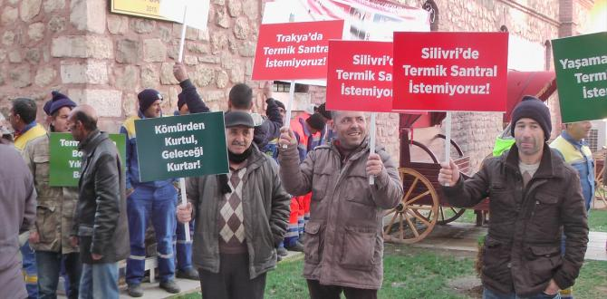 Silivri'de termik santrale karşı imza kampanyası