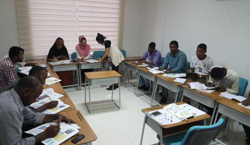 Sudan'da Türkçe öğrenmek için sıraya girdiler