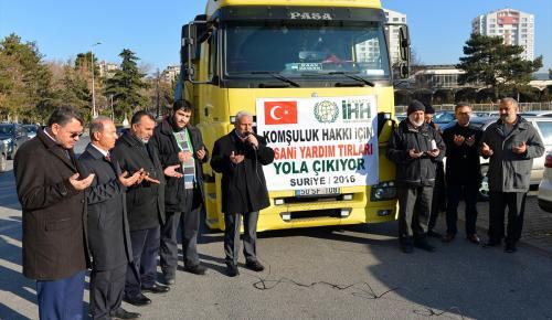 Suriyelilere 50 ton un yardımı