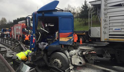 TEM Otoyolu'nda trafik kazası: 1 yaralı