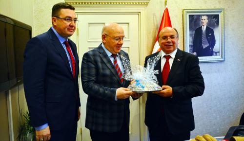 TGK Başkanı Kolaylı'dan Vali Çiçek'e ziyaret