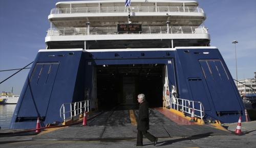 Yunanistan'da liman işçileri grevde
