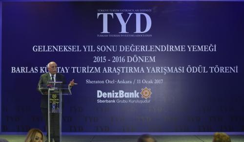"""""""2015- 2016 Barlas Küntay Turizm Araştırmaları Ödül Töreni"""""""