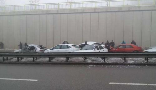 Konya'da zincirleme kaza! 32 araç birbirine girdi